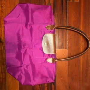 Longchamp le pliage bag purple